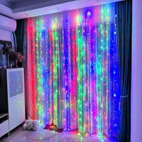 2x2 / 3x1 / 3x2 / 3x3 / 6x3 m led dize ışıkları noel peri ışıkları çelenk açık ev düğün / parti / perde / bahçe dekorasyon