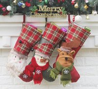 Christmas stocking xmas decorations Children gift candy bag ...