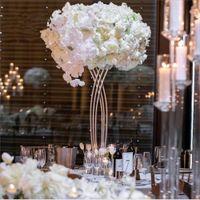 Nova Chegada Ouro ou Metal Cross Pintado Branco Para Mesa De Casamento Flor Stand Centerpieces Senyu0466