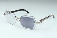 Новый высококачественный резной цветовой изменение объектива 8300817-C1 роскошный натуральный черный узор рожок Рог Алмазные очки рамка 58-18-135 мм одно зеркало двойное использование