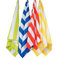 Microfaser Streifen Strandtuch Weichen Beutel Schnell Trockenen Handtuch Für Reise Sand Strand Leichte Handtuch Für Camping Strand Decke Geschenke