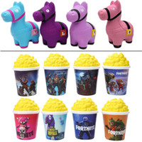 Kawaii Squishy Food Toys Pattern Popcorn Llama Cute Slow Ris...