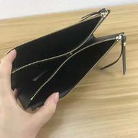 العلامة التجارية محفظة عالية الجودة أضعاف سستة الرجال فاخرة محفظة مصمم العلامة التجارية النساء محافظ حقائب جلدية المحافظ مع BOX 61269