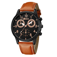 Men Fashion Business Watches New Leather Band Simple Quartz ...