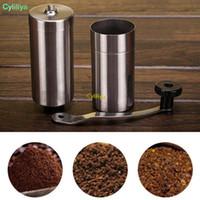 Yeni Bar Gümüş Kahve Öğütücü Mini Paslanmaz Çelik El Manuel El yapımı Coffee Bean Burr Değirmenleri Değirmen Mutfak Alet Crocus Öğütücüler