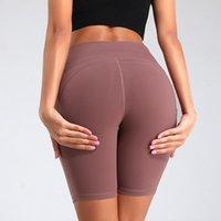 US-Aktien, Frauen-Sport-Yoga Shorts Damen Tarnung Taschen Hip-Anziehen Jogging Fitness Yoga Hosen Sport Fitness Pants FY9090