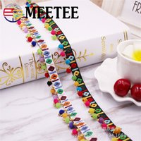 Meetee 1cm Manual Embroidery Beading Lace Trims Polyester Co...