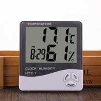 الرقمية LCD الرطوبة متر ميزان الحرارة مع عقارب الساعة التقويم إنذار البطارية درجة الحرارة بالطاقة رطوبة المنزلية الدقة على مدار الساعة