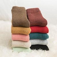 حار بيع المرأة صوف يمزج الجوارب نقي اللون رشاقته دافئ السيدات تيري الجوارب الشتوية تبقي الجوارب الدافئة