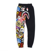 Hot A Bathing aape Ape Japan Uomo 19Bape Shark Jaw Pantalone Camo Print Colour Pants pantaloni da uomo di design