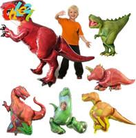 Jurassic Gigante Dinosaur Foil Balão Meninos Animal Balões de Dinossauro das Crianças Festa de Aniversário Decorações de Balões de Hélio Crianças Brinquedos