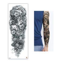 NOUVEAU 48 * 17cm pleine fleur bras autocollant de tatouage 40models poisson paon peinture Lotus corps temporaire d'eau Transfert manchon Tatoo faux
