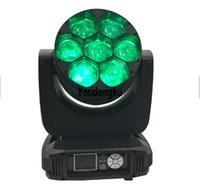6 adet LED Spin Göz kafasını hareket Kafa ile Yakınlaştırma Mini gözü Hareketli Wash RGBW 1'de ışın ışık hareketli kafa 7 x 40w 4 led