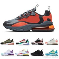 Grey and Orange 270 react mens running shoes In My Feels Bau...