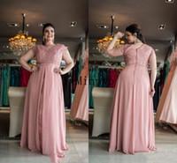 Rouge Plus Size Mutter der Brautkleider 2021 Kurzarm Spitze Chiffon Bodenlangen Lange Formale Frauen Hochzeit Abend Guest Gowns