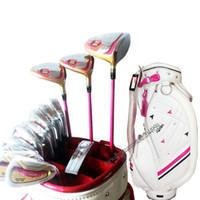 New Women Golf Clubs Honma S-06 Conjunto completo de clubes Golf Wood Irons Putter No Bag Golf Set Clubes Eixo de grafite Frete grátis