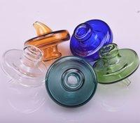 Universale di vetro colorato UFO Carb Cap con il 35mm OD Banger Carb protezione della cupola di quarzo banger Nails tubi di acqua di vetro, piattaforme petrolifere DAB