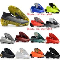 2021 망 축구 신발 Mercurial Superfly VI 360 Elite CR7 FG Cleats Crampons de Football Boots Superflyx Ronaldo Scarpe Calcio