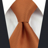 C16 Solid Orange Silk Mens Necktie Tie Fashion Wedding Acceossories Brand New extra long size Ties for male