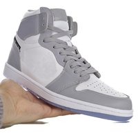 "2020er HOT Designer LOGO D aj 1 High OG ""Gray"" klassische High-top Kultur wilden beiläufigen Sport-Basketballschuh ""Ice Blue D"" CK6636-101"
