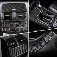Carbon-Faser für Mercedes Benz C-Klasse W204 Autoinnen Gearshift Klimaanlage CD-Panel-Leselicht-Abdeckung Trim-Auto-Aufkleber Zubehör