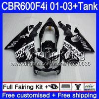 Repsol black top Body +Tank For HONDA CBR 600 F4i CBR 600F4i CBR600FS 600 FS 286HM.2 CBR600F4i 01 02 03 CBR600 F4i 2001 2002 2003 Fairings