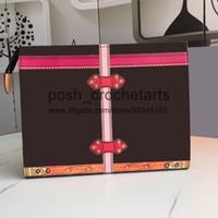 Artículos de tocador de la bolsa 26 con la caja de embalaje de las mujeres de bolso cosmético con Zippy diseñador del tinte del lazo de aseo bolso viene con la caja