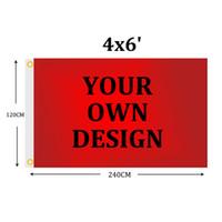 Kundenspezifische Flaggen-4x6 FT Banner 120x180cm Sports Party Club Geschenk Digital Printing Polyester Werbung Indoor Outdoor Printed Flaggen und Banner