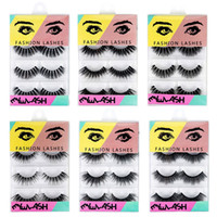 4 Pairs 3D Mink Hair False Eyelashes Thick Crisscross Eye La...