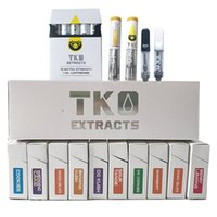 TKO Extracts Cartridges Empty Vape Pen Carts 0.8ml 1ml Thick Oil 510 Ceramic Atomizer Glass Tank Wax Vaporizer Vape Cartridge Packaging