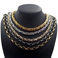 Hip Hop теннис петля цепи Модные ювелирные изделия Мужчины титана стали ожерелье ожерелье Византийская Империал 4 5 6 мм