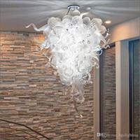 تصميم بسيط رخيصة الثمن زجاج مورانو قلادة مصابيح ضوء تيفاني نمط 100٪ الفم الزجاج المنفوخ مع 110V-240V LED لمبات