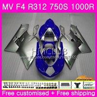 Kropp för MV Agusta F4 MV-F4 R312 750s 1000 R 750 1000cc 05 06 Kit 27HM.58 1000R 312 1078 1 + 1 MA MV F4 2005 2006 05 06 Fairing Nice Blue Grey