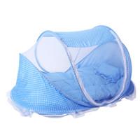4 em 1 Portátil Berço Netting Rede Mosquiteira Com Travesseiro Almofada de Algodão Verão Instalação Livre Automática Dobrável tenda de Bedcover