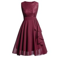 Womens Elegant Party Dress Sleeveless Formal Ladies Wedding ...