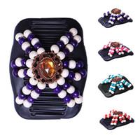 Autres 2021 Variété de mode Variété Cheveux Peignes Magic Femme Perles à la main Perles à cheveux en épingle à cheveux Barrette Bijoux