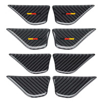4Pcs Car Interior Door Handle Bowl Sticker Cover Trim Carbon Fiber Car Stickers For Mercedes For Benz C Class W205 C180 C200 GLC