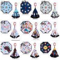 Parasole dzieci odwrotna parasol podwójna warstwa super parasole parasole dzieci kreskówka parasol zwierzęce składane długotrwały parasol ezyq190