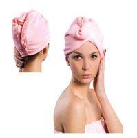 Microfibra magia de pelo Secar Seco turbante Wrap Toalla / sombrero / casquillo de secado rápido Secadora Baño / componen la toalla 1000pcs / lot envío gratuito LXL551-1