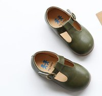 AILIANG children leather shoes kids footwear girls vintage s...