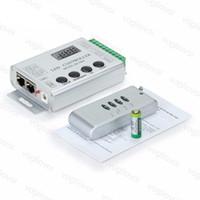 RGB Контроллеры Алюминиевый RF4KEY ИК Контроллер Освещение Аксессуары DC5V / 12-24V Для Волшебной полосы WS2811 / SK6812 / WS2812B / 6803/6812/1903 DHL