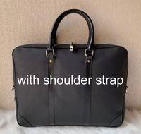 2019 nuovi uomini caldi di vendita di lusso cartella della spalla Nero Marrone Designer borsetta di pelle uomini d'affari Laptop Bag Messenger Bag 3Color