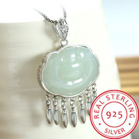 925 Sterling Silver Pendant Jewelry Necklace Women Natural H...
