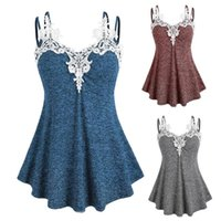 Summer Women's Sexy Sling Fashion Casual Summer Sleeveless V-neck Lace Collar Camisole Top Vest Plus Size S-2XL