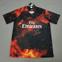 2018 19 Paris Red Black Lava Special Edition Soccer Jersey M...