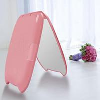 3styles Portable 8 luci a LED compatto di trucco doppia faccia specchio pieghevole con lente di ingrandimento piccolo specchio Strumenti RRA2164
