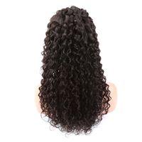 레이스 프론트 가발 흑인 여성용 곱슬 버진 인간의 머리 가발 아기 헤어 중간 캡 자연 색 130 % 150 % 180 % 밀도 벨라 머리카락