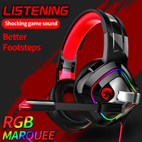 A66 Gaming Headset 4D Stereo LED Luminoso Cuffia Wired 4D RGB Marquee bass Per Nintendo Interruttore per PS4 Xbox One PC Del Computer Portatile compresse
