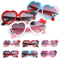 Lovely bowknot heart- shaped Kids Sunglasses Summer Baby Glas...