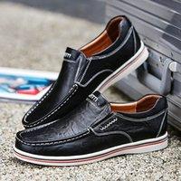 Sıcak Satış Erkek İngiliz Stil Tekne Ayakkabı Minimalist Tasarım Deri Erkekler Elbise Ayakkabı loafer'lar Biçimsel İş Oxfords Ayakkabı